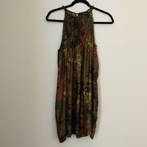 Zara camo silk dress size medium